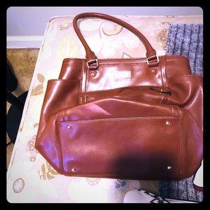 Brown leather Ralph Lauren Purse